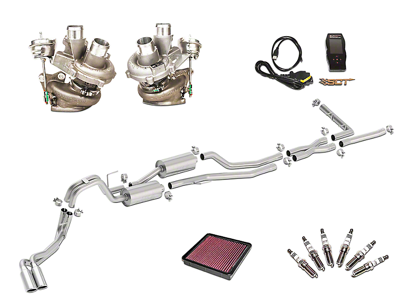 Borla True Dual Stinger S-Type Cat-Back System & BorgWarner Turbo Upgrade Kit - Dual Side Exit (13-14 3.5L EcoBoost)