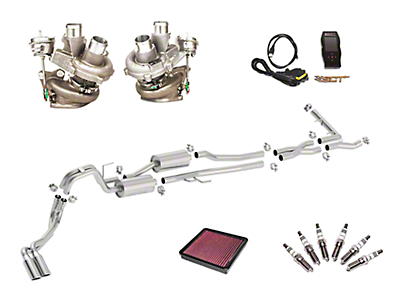 Borla True Dual Stinger S-Type Cat-Back System & BorgWarner Turbo Upgrade Kit - Dual Side Exit (15-16 3.5L EcoBoost)