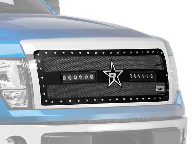RBP RX-3 Midnight Edition Studded Frame Upper Grille Insert w/ LEDs - Black (09-14 All, Excluding Raptor & Harley Davidson)