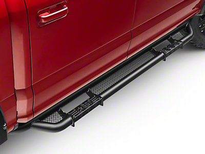 RBP RX-3 Cab Length Step Bars - Black (15-18 SuperCab, SuperCrew)