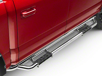 RBP RX-3 Cab Length Step Bars - Stainless Steel (15-18 SuperCab, SuperCrew)