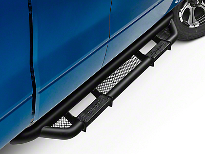 RBP RX-3 Cab Length Step Bars - Black (09-14 SuperCab, SuperCrew)