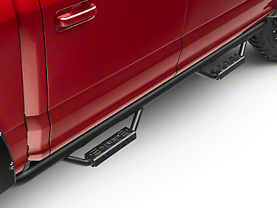 RBP RX-7 Wheel to Wheel Side Step Bars - Black (15-18 F-150 SuperCab w/ 6.5 ft. Bed, SuperCrew)