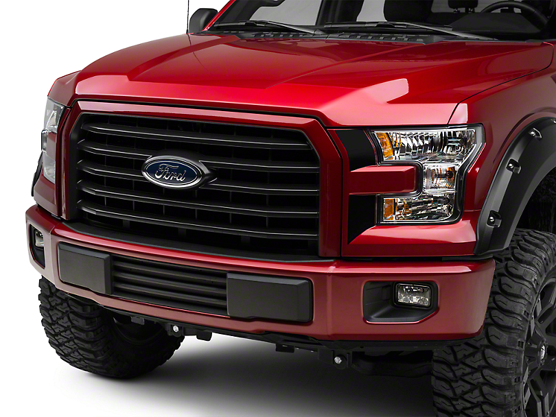 American Muscle Graphics Black Headlight Accent Decals (15-17 All; 2018 Raptor)