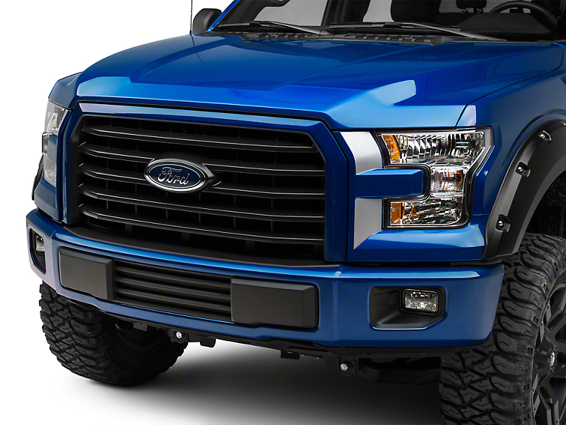 American Muscle Graphics Silver Headlight Accent Decals (15-17 All; 2018 Raptor)