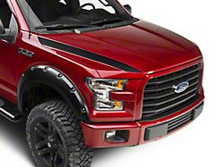 SEC10 Hood Accent Decal; Matte Black (15-20 F-150)