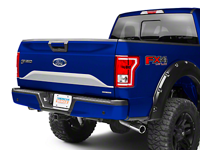 American Muscle Graphics Silver Lower Tailgate Panel Accent Decal (15-17 All)