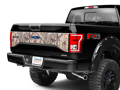 American Muscle Graphics Real Tree Camo Tailgate Panel Decal (15-18 w/o Tailgate Applique)