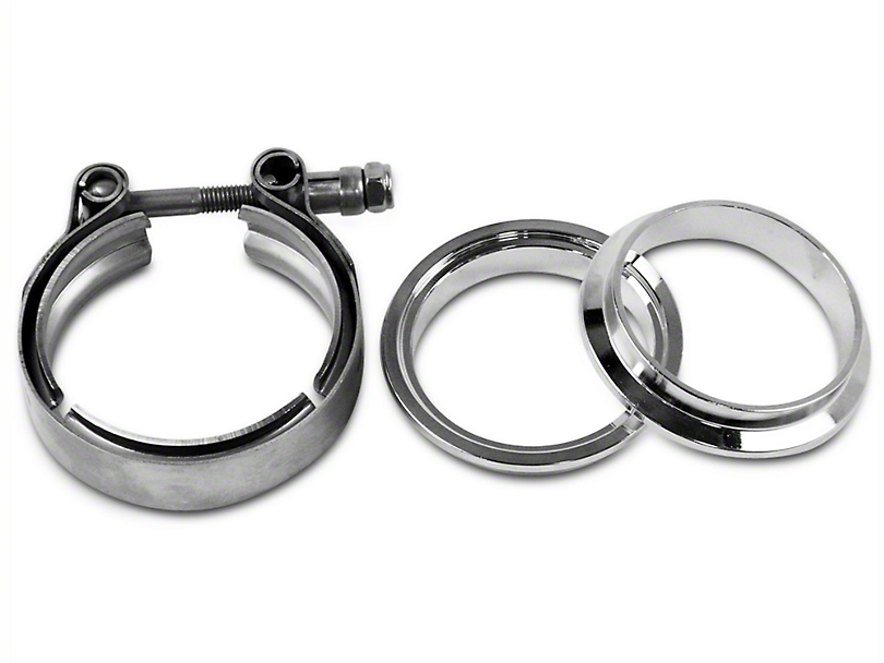 GMS 2.5 in. Mating Male to Female Flange w/ V-Band Exhaust Clamp - Stainless Steel (97-18 F-150)