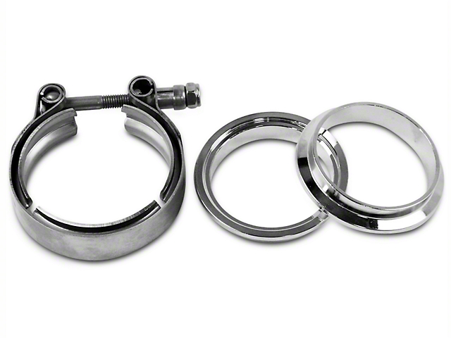GMS 2.5 in. Mating Male to Female Flange w/ V-Band Exhaust Clamp - Stainless Steel (97-19 F-150)