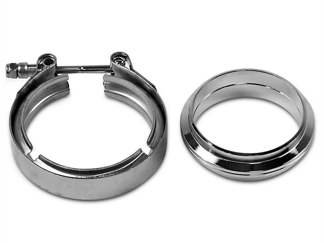 GMS 3 in. Mating Flat Flange w/ V-Band Exhaust Clamp - Stainless Steel (97-18 F-150)