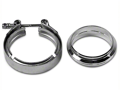 GMS 3 in. Mating Flat Flange w/ V-Band Exhaust Clamp - Stainless Steel (97-18 All)