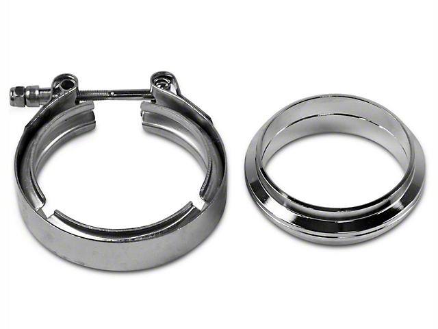 GMS 3 in. Mating Flat Flange w/ V-Band Exhaust Clamp - Mild Steel (97-18 F-150)