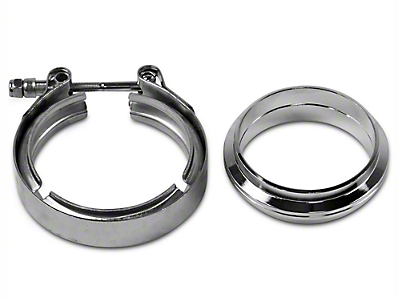 GMS 3 in. Mating Flat Flange w/ V-Band Exhaust Clamp - Mild Steel (97-18 All)