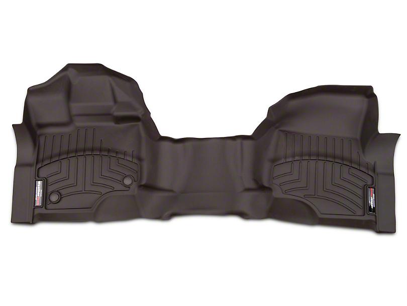 Weathertech DigitalFit Front Over The Hump Floor Liner - Cocoa (15-17 SuperCab, SuperCrew)