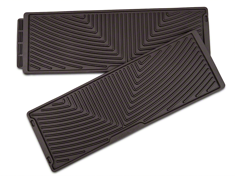 Weathertech All Weather Under Rear Seat Rubber Floor Mats - Cocoa (15-17 SuperCrew)