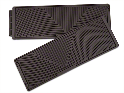 Weathertech All Weather Under Rear Seat Rubber Floor Mats - Cocoa (15-18 SuperCrew)