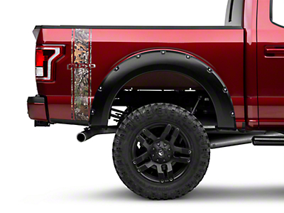 American Muscle Graphics Real Tree Camo Rear Vertical Stripe w/ F-150 Logo (15-17 All)