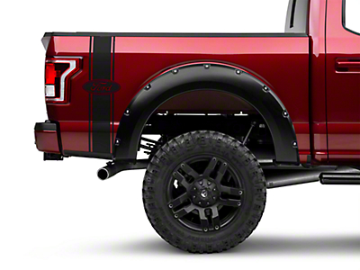 American Muscle Graphics Black Rear Vertical Stripe w/ Ford Oval (97-17 All)