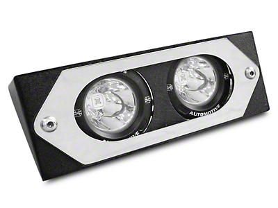 Iron Cross Center Light Bracket w/ Two Round LED Lights for Iron Cross HD Base Front Bumper (97-17 All)