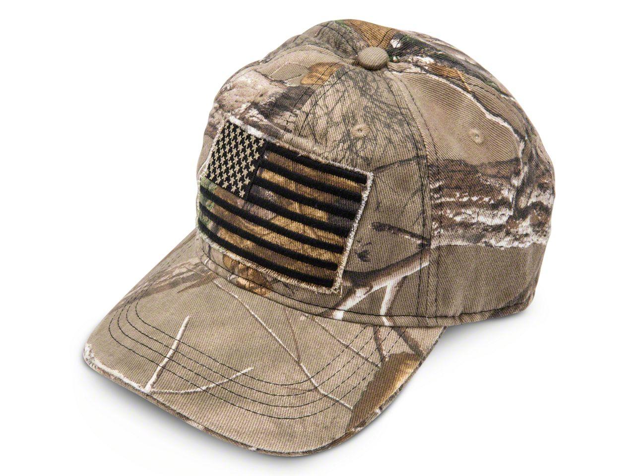 USA Flag Realtree Camo Hat