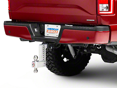 Weigh Safe 2 in. Receiver Hitch 180 Degree Adjustable Ball Mount - 8 in. Drop Hitch (97-18 All)
