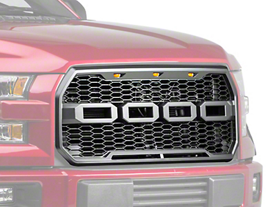 Barricade V2 Raptor Style Upper Replacement Grille w/ LED Lighting (15-17 All, Excluding Raptor)