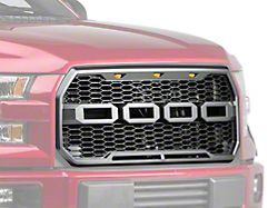 Barricade V2 Upper Replacement Grille w/ LED Lighting (15-17 F-150, Excluding Raptor)