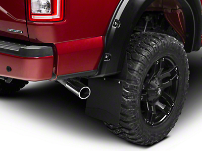 Husky 12 in. Wide KickBack Mud Flaps - Textured Black Top & Weight (97-18 All)