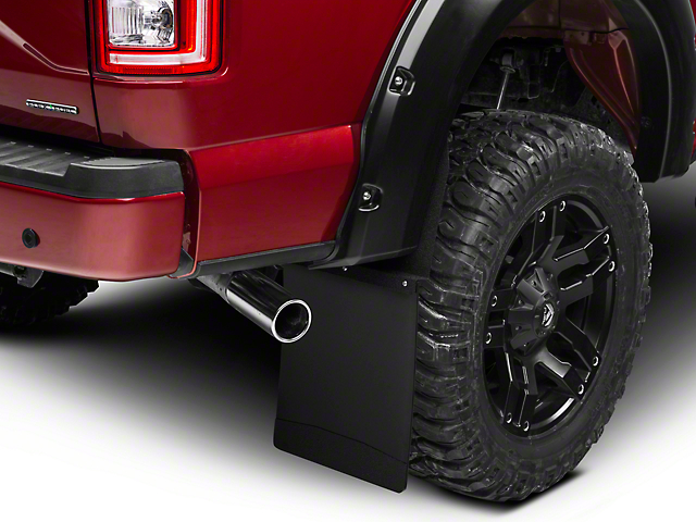Husky 14 in. Wide KickBack Mud Flaps - Textured Black Top & Weight (97-17 All)