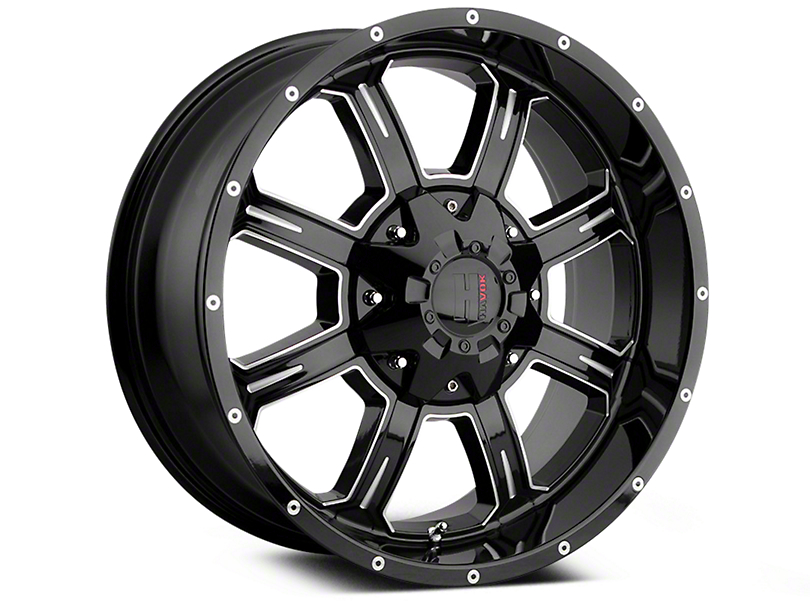 Havok Off-Road H101 Black Milled 6-Lug Wheel - 20x9 (04-18 All)