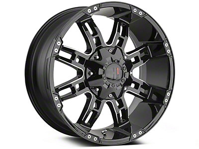 Havok Off-Road H103 Black Milled 6-Lug Wheel - 20x9 (04-18 All)