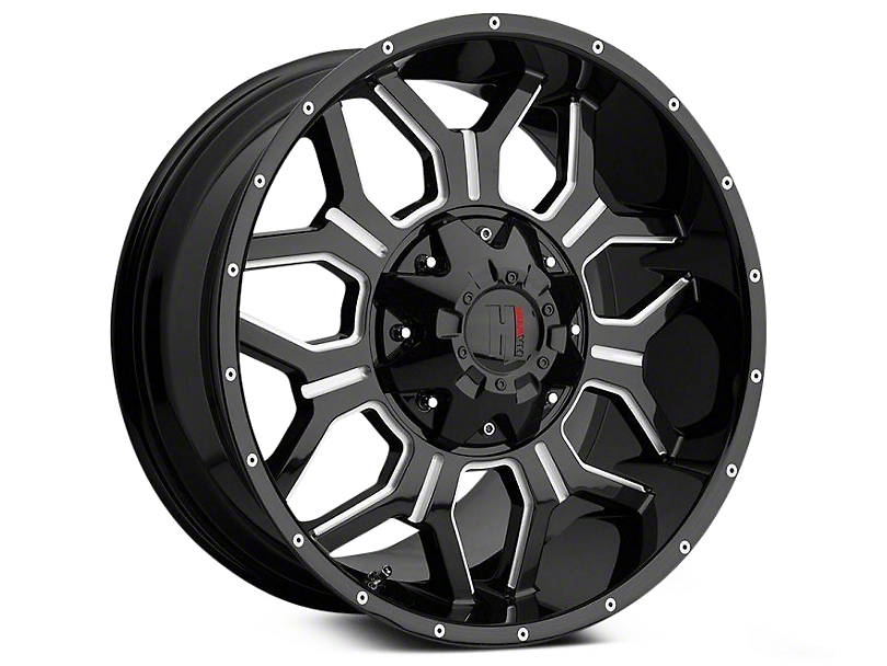 Havok Off-Road H106 Black Milled 6-Lug Wheel; 20x9; 12mm Offset (04-08 F-150)