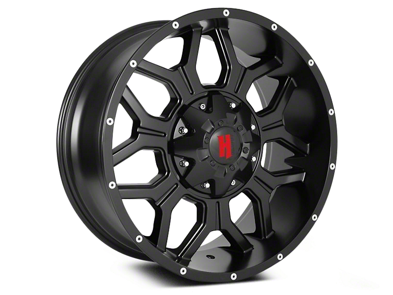 Havok Off-Road H106 Matte Black 6-Lug Wheel - 20x9 (04-18 F-150)