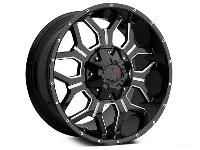 Havok Off-Road H106 Black Milled 6-Lug Wheel - 18x9 (04-19 F-150)