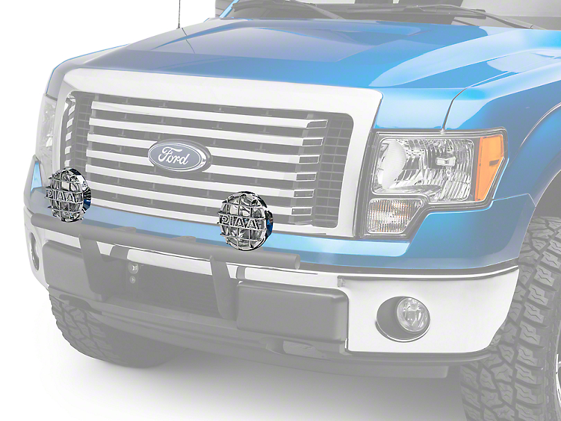PIAA 520 Series 6 in. Round Chrome SMR Halogen Lights - Driving Beam - Pair (97-18 All)