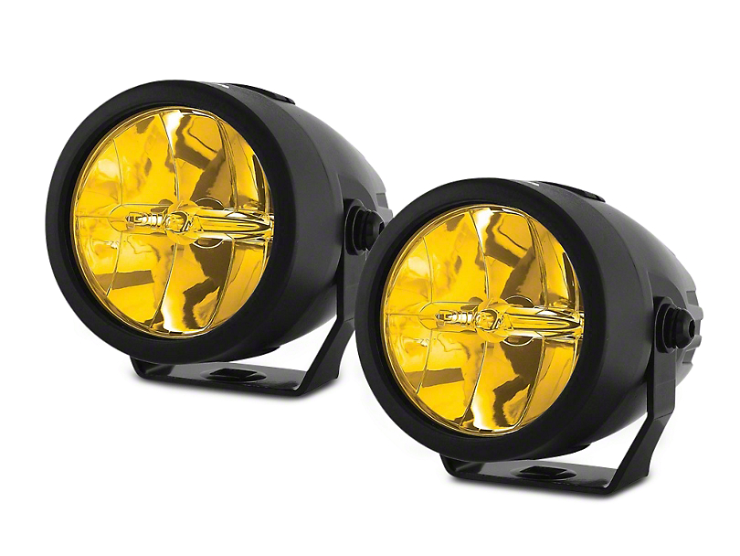 PIAA LP270 2.75 in. Round Ion Yellow LED Lights - Driving Beam - Pair (97-17 All)