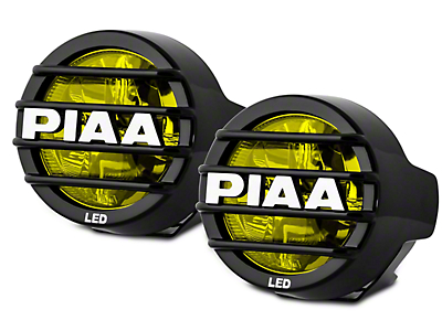 PIAA LP530 3.5 in. Round Ion Yellow LED Lights - Fog Beam - Pair (97-17 All)
