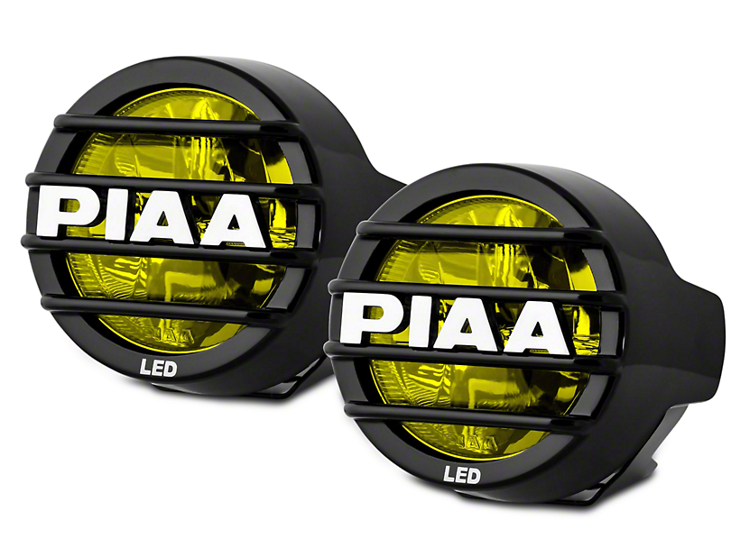 PIAA LP530 3.5 in. Round Ion Yellow LED Lights - Driving Beam - Pair (97-18 All)