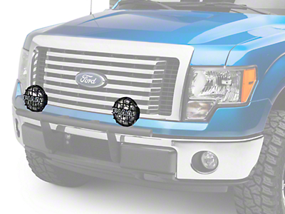 PIAA 520 Series 6 in. Round Black Mesh Grille w/ PIAA Logo (97-18 All)