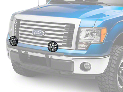 PIAA 540 Series 5 in. Round Black Mesh Grille w/ PIAA Logo (97-18 All)