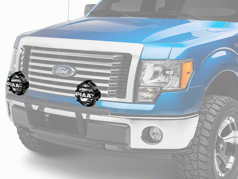 PIAA LP570 Series 7 in. Round Black Mesh Grille w/ PIAA Logo (97-17 All)