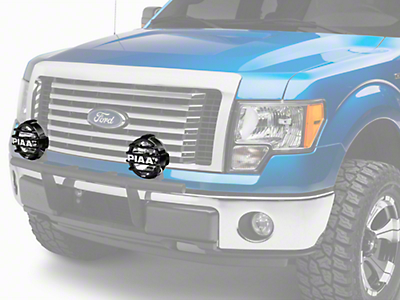 PIAA LP570 Series 7 in. Round Black Mesh Grille w/ PIAA Logo (97-18 All)