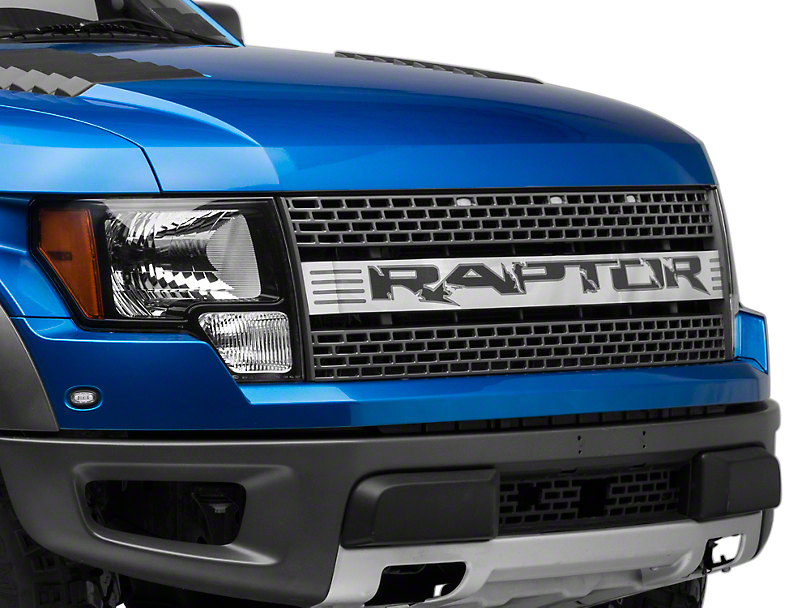 Modern Billet Polished Upper Grille Insert w/ Raptor Logo (10-14 F-150 Raptor)