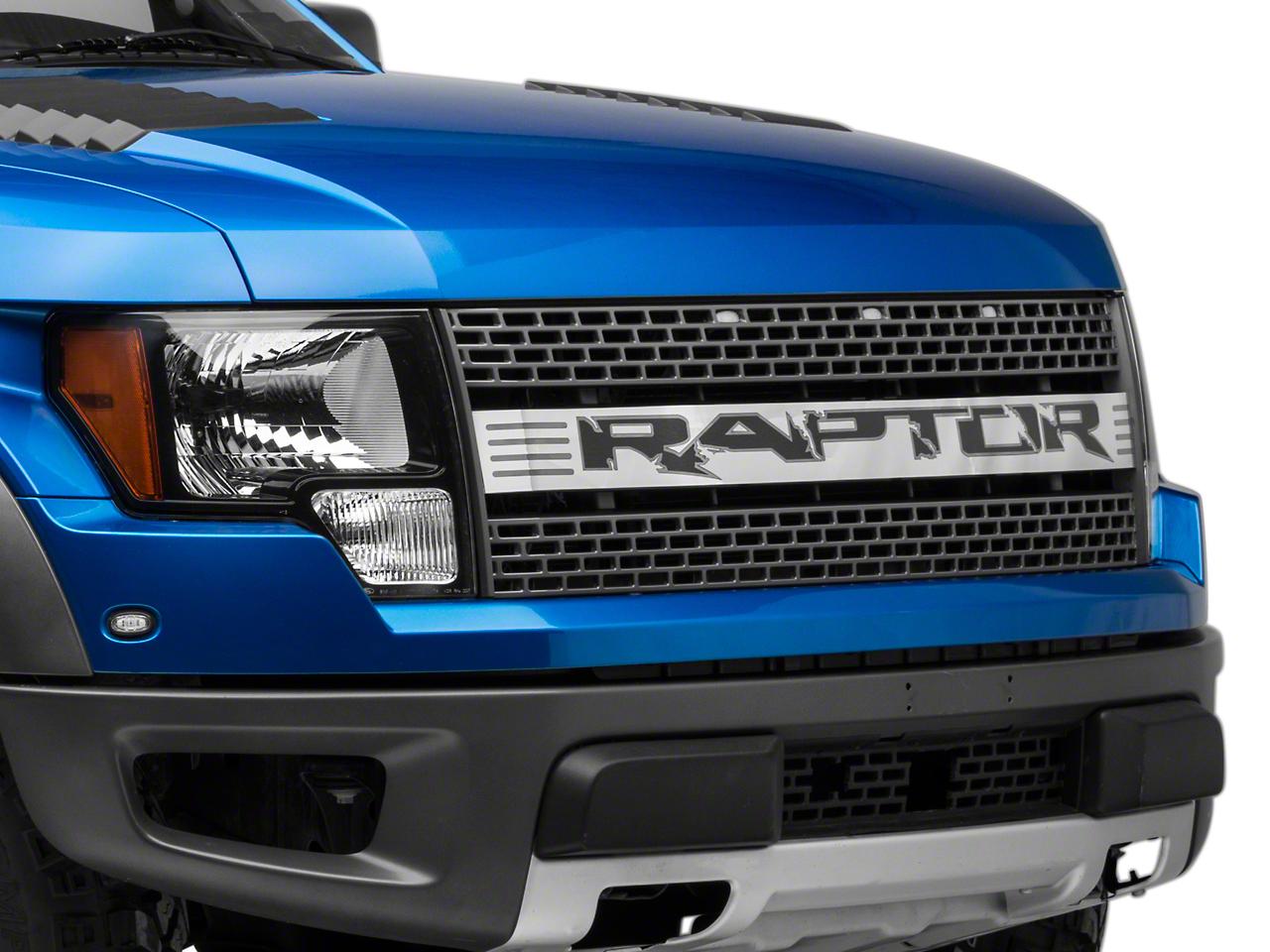Modern Billet Polished Upper Grille Insert w/ Raptor Logo (10-14 Raptor)