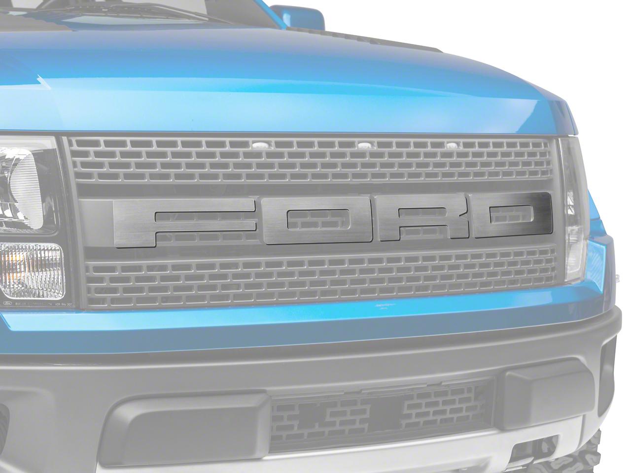 Modern Billet Brushed Front Grille F-O-R-D Letter Set (10-14 Raptor)