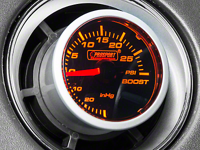 Prosport Dual Color 30 PSI Boost/Vac Gauge - Mechanical - Amber/White (97-18 All)