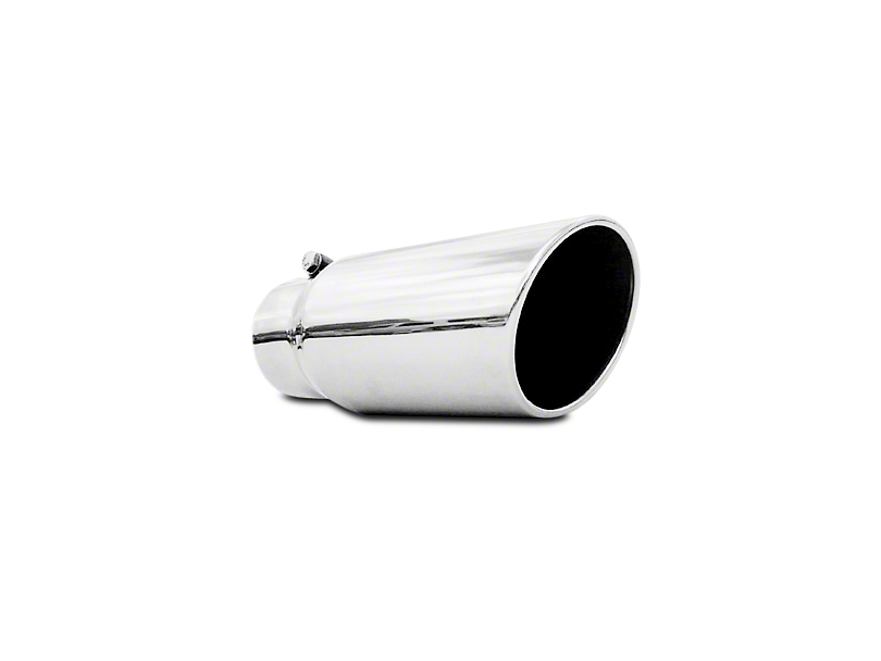 MBRP 5 in. Angled Rolled Edge Exhaust Tip - Polished Stainless - 4 in. Connection (97-18 F-150)