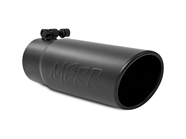 MBRP 3.5 in. Angled Rolled Edge Exhaust Tip - Black Coated - 3 in. Connection (97-18 F-150)