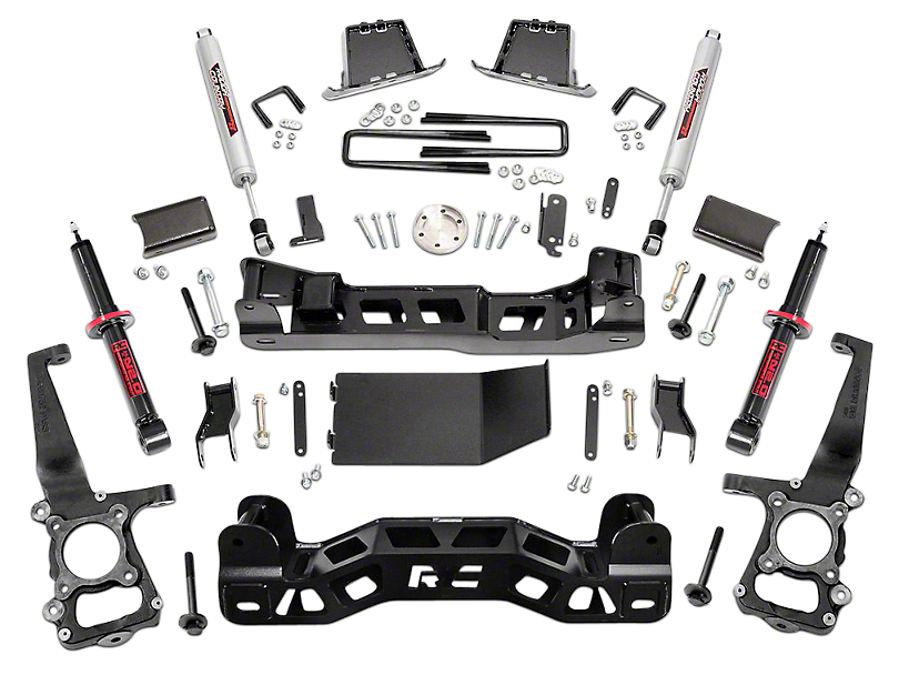 Rough Country 6 in. Suspension Lift Kit w/ Lifted Struts (09-14 4WD F-150, Excluding Raptor)
